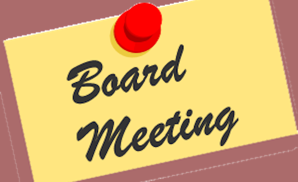 Board Meeting – Changeover